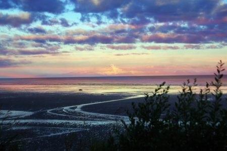 Beach in the Bay of Prince William Sound, Alaska
